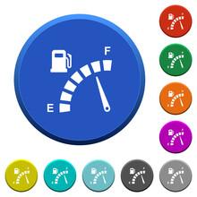 Fuel Gauge Beveled Buttons