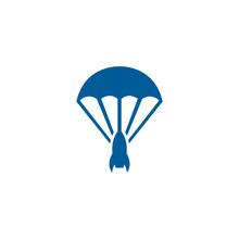 Parachute Rocket Logo