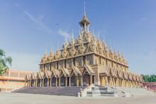 Buddha Image In The Wat Tha Sung Temple Near Uthai Thani In  Thailand