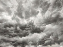 Thunderstorm Gray Clouds Background