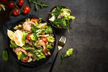 Seafood Salad At Black Table.