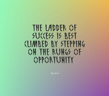 """Quote """"The Ladder Of Success Is Best Climbed By Stepping On The Rungs Of Opportunity"""""""