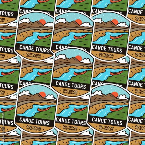 Fotografija Camping adventure badges pattern