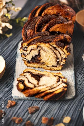 Babka cake with chocolate #431471346