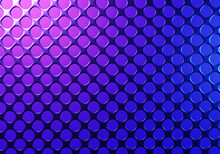 3d Geometric Background Of Circles. Blue Fantasy Background. Pattern Of Painted Metal Mesh. A Pattern Of Circles With One Illuminated Corner. Blue Wallpaper With Geometric Shapes.