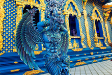 Wat Rong Suea Ten, The Blue Temple In Chiang Rai