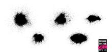 Grunge Splatter Set. Spray Stains Background. Powder Splatter Texture. Paint Splashes. Liquid Stains. Highly Detailed Grunge. Ink Spots. Grunge Drops.