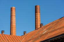 Altes Industriegebäude Mit Schornsteinen