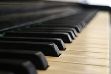 Old Piano Keys Close Up Music Compose Tune Melody Create Inspiration Soft