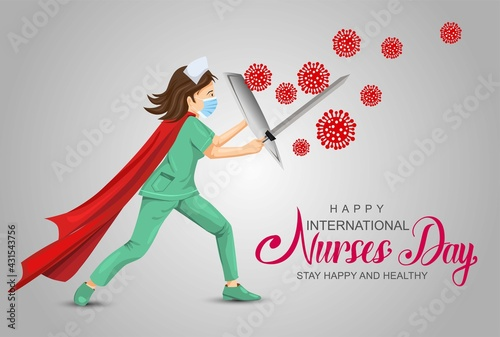Fototapeta happy nurse day