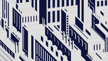 Abstract City Composition Of Urban Environment Multi-storey Buildings, Factories And Roads, Industrial Architectural Fantasy Vector Background