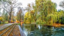 Jesienny Wieczór W Parku W Olsztynie Na Warmii