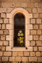 Interesting Old Window In Jerusalem In Israel