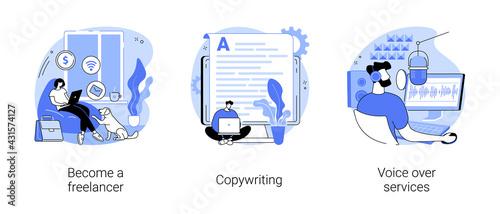 Fotografía Independent entrepreneur abstract concept vector illustrations.
