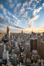 Manhattan Skyline With View Of The Empire State Building, New York City, USA