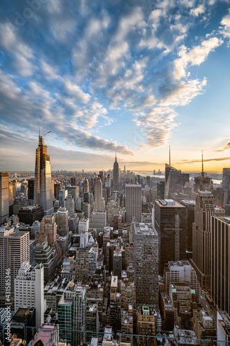 Foto Murales Manhattan skyline with view of the Empire State Building, New York City, USA