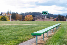 Team Bench On A High School Football Field