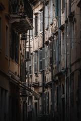 Ciasna uliczka w Korfu