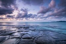 Tatami Ishi Rocks On Kumejima Island, Okinawa, Japan