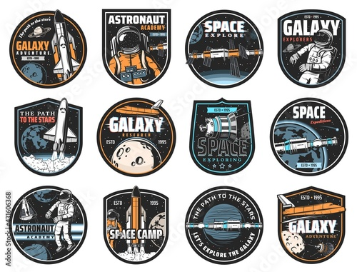 Space vector icons Fototapet