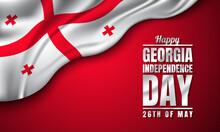 Georgia Independence Day Background Design. Vector Illustration.