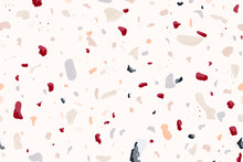 Pastel Terrazzo Abstract Background Pattern