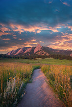 Early Morning Light In The Flatirons, Boulder Colorado