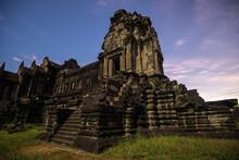 Angkor Wat Temple At Dusk