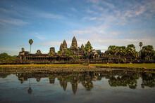 Angkor Wat Temple At Night