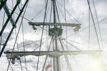 Mast Retracted From A 16th Century Spanish Galleon
