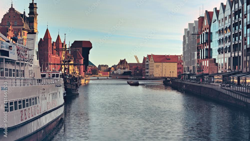 Fototapeta boat on the river thames