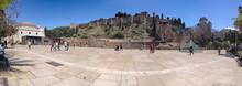 El Teatro Romano Y La Alcazaba De Málaga Visto Desde La Calle Alcazabilla, Andalucía