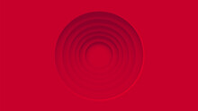 Red Circles Abstract Center Space Background