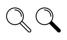 Search Icon Vector. Magnifying Glass Icon Vector
