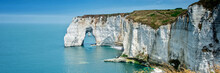 Panorama Of The Cliff Of Etretat, Normandy, France