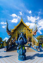 Beautiful Of Blue Temple Wat Rong Sua Ten The Amazing Temple At Thailand