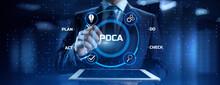 PDCA Plan Do Act Check Business Technology Concept
