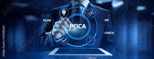 Fotografie, Obraz PDCA Plan Do Act Check Business technology concept