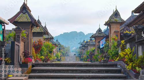 Penglipuran is a traditional oldest Bali village at Bangli Regency - Bali, Indonesia - fototapety na wymiar