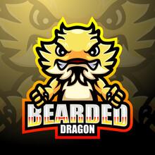 Bearded Dragon Esport Logo Mascot