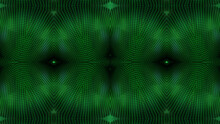 Textured Glowing Green Kaleidoscope Background