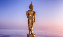 Buddha Standing On A Mountain Wat Phra That Khao Noi, Nan Province, Thailand