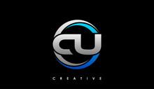 CU Letter Initial Logo Design Template Vector Illustration