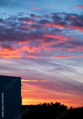 Zachód słońca - fototapety na wymiar