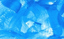 Abstract Banner With Bright Blue Brush Strokes