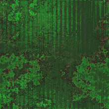 Dark Green Background With Black Shadow On Border And Vintage Grunge Background Texture Shapes And Vertical Lines, Christmas Or St Patrick's Day Paper