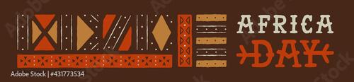Fototapeta Africa Day web template tribal art decoration obraz