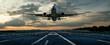 canvas print picture - Flugzeug bei einer Landung