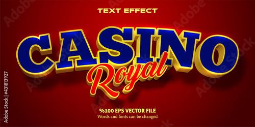 Livid text, serious style editable text effect: Casino Royal Fototapeta