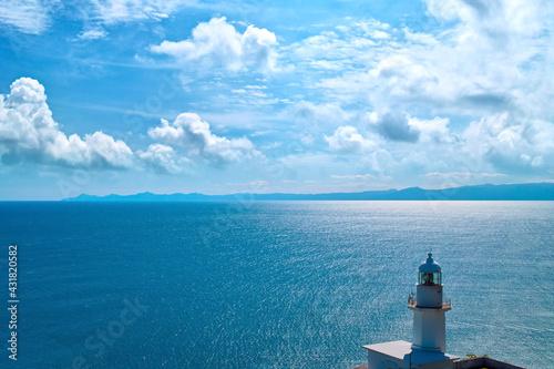 Stampa su Tela 海 灯台から見える海と半島